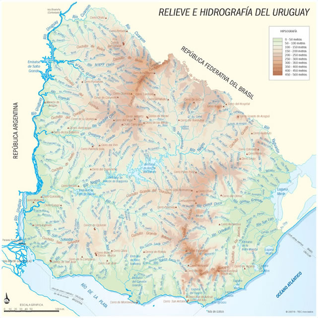 Mapa De Rios Do Uruguai